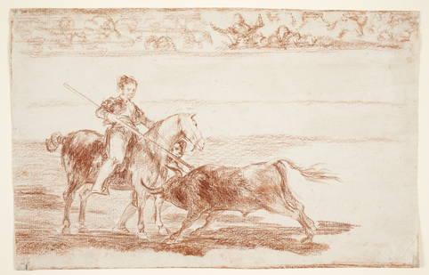 """Valor varonil de la célebre Pajuelera en la plaza de Zaragoza"", Francisco de Goya"