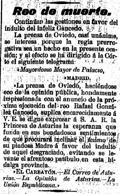 El Carbayón, 15 de junio de 1899