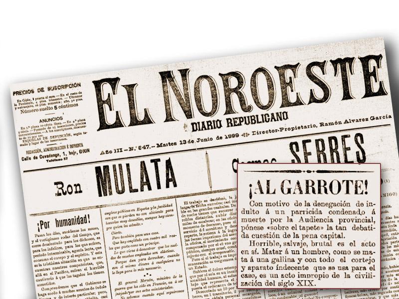 Portada de El Noroeste. 13 de junio, 1899