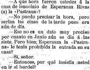 El juicio contra el Chorín. El Noroeste, 4.6.1907