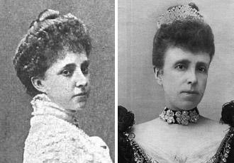 La princesa, María Mercedes, y la reina regente, María Cristina.