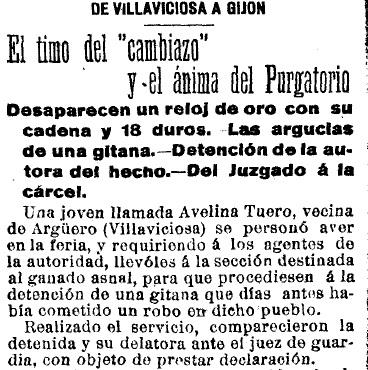 La gitana Basilia. Año 1914