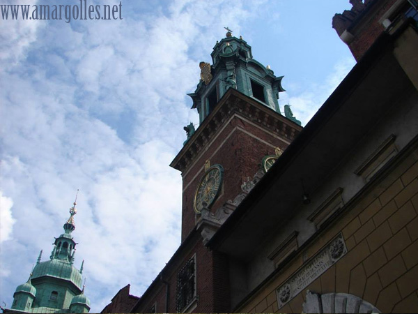 El cielo sobre Wawel... espectacular.